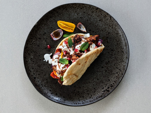 Chicken Shawarma with Pomegranate and Mint