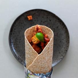 Beans on Toast Breakfast Burrito