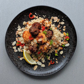 Lamb and Cauliflower Kebabs with Apricot Couscous : Red Label