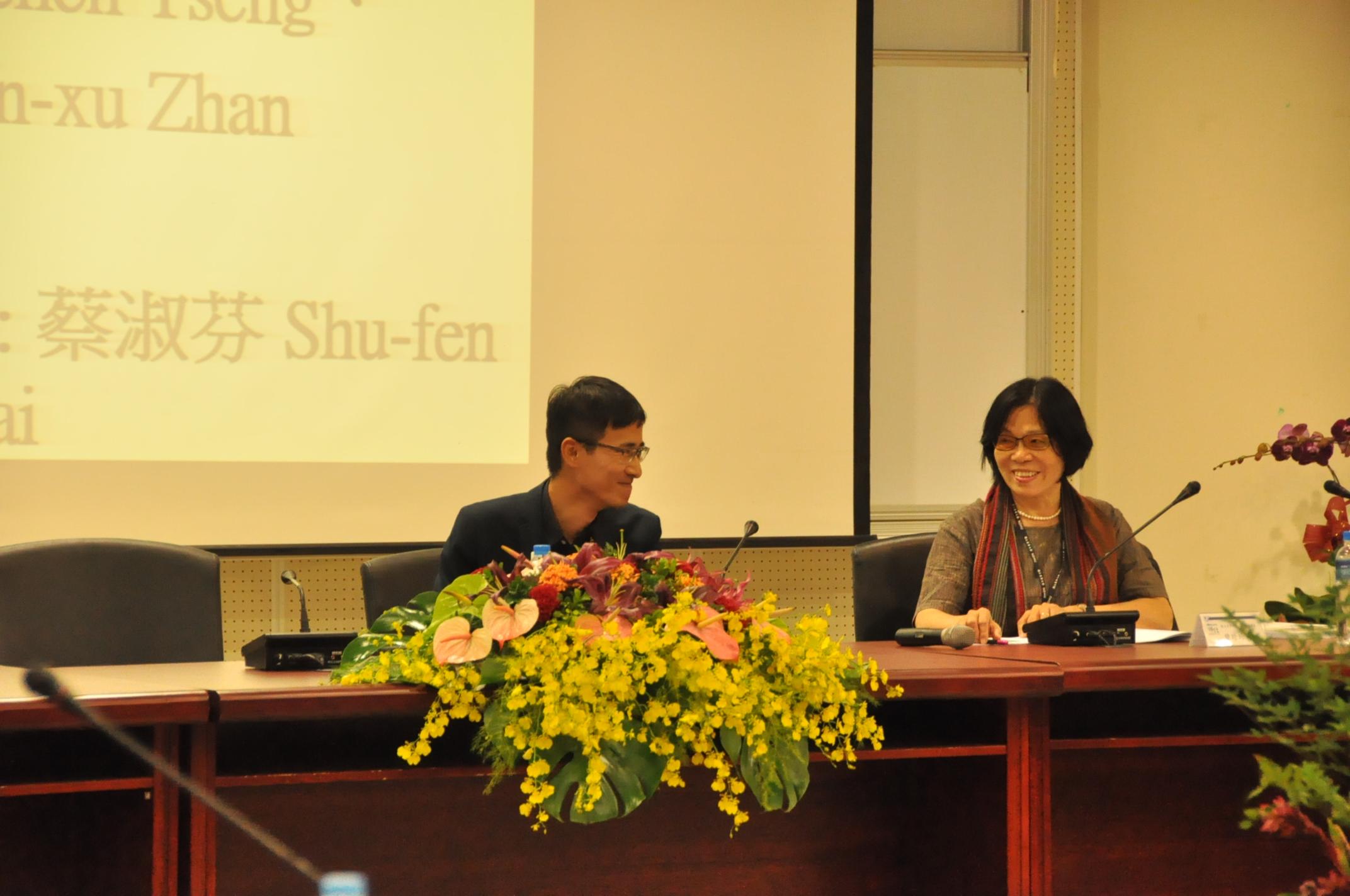 論文發表VI 詹閔旭(左)、曾珍珍(右)