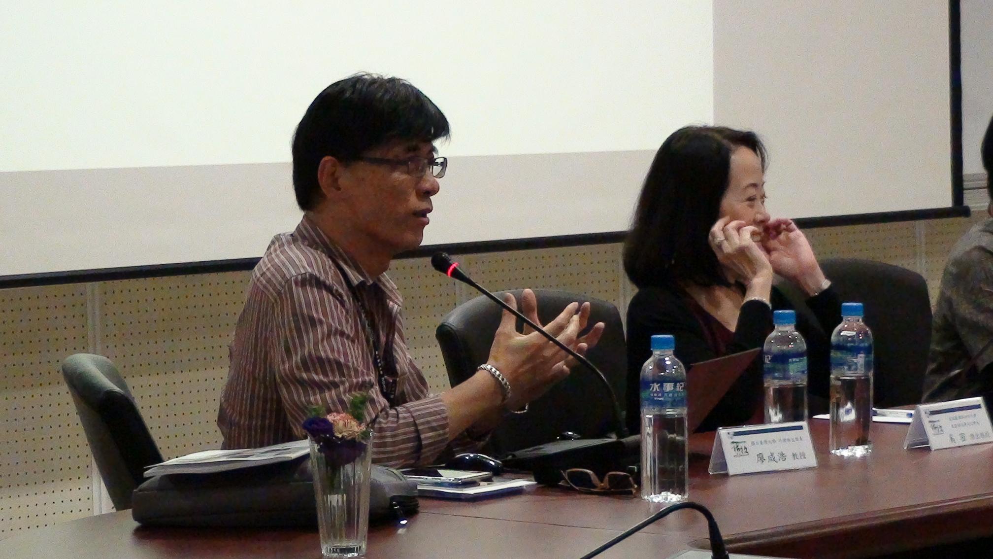楊牧與世界文學 廖咸浩(左)、奚密(右)