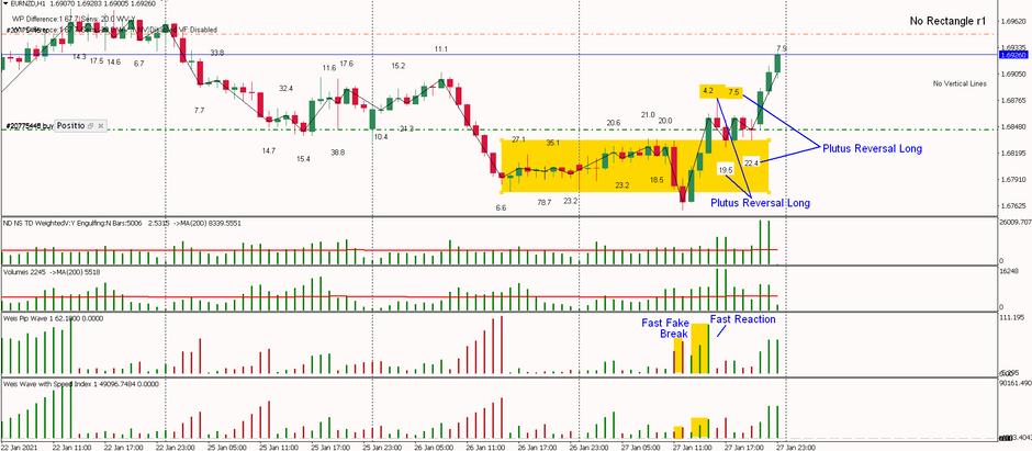EURNZD - Double Plutus Reversal Long after the exit from the range- first target set at 100 pips