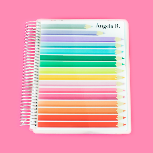 Colored Pencils Teacher Planner
