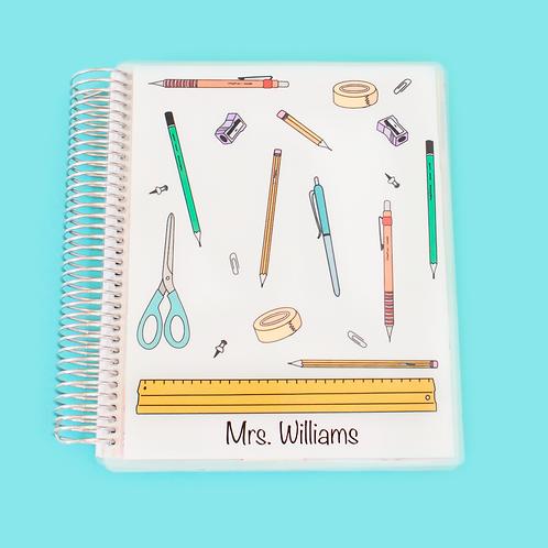 School Supplies Teacher Planner
