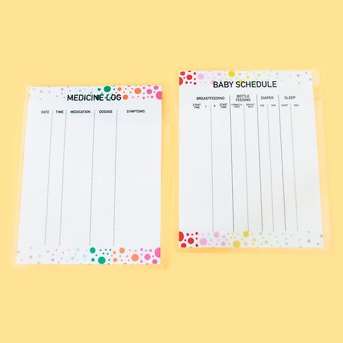 Medicine and Baby Schedule Log