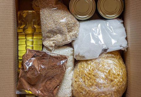 box-products-donations-pandemic-coronavi