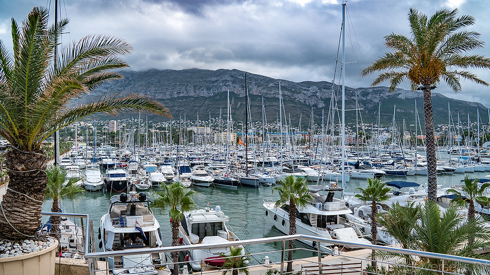 Denia Spain has aa great port for boating and sailing.