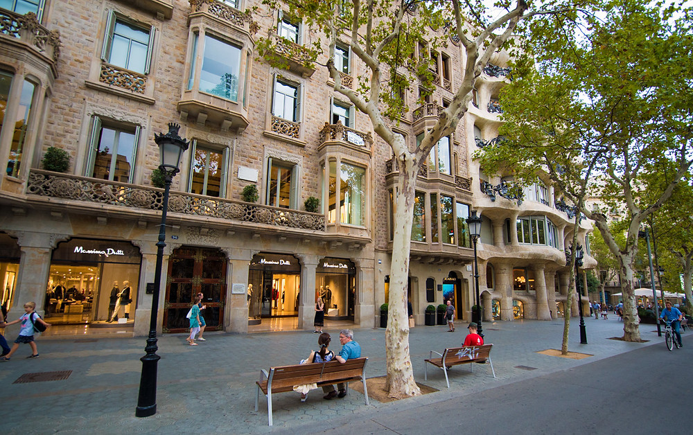 Las Ramblas is a tree-lined pedestrian street popular with tourists and locals.