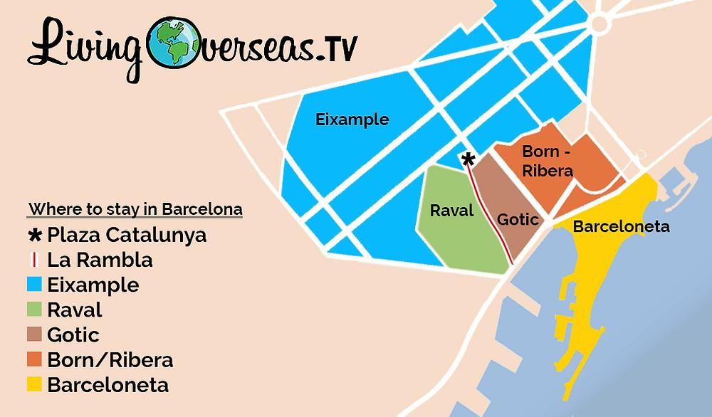 Neighborhood Map of Barcelona