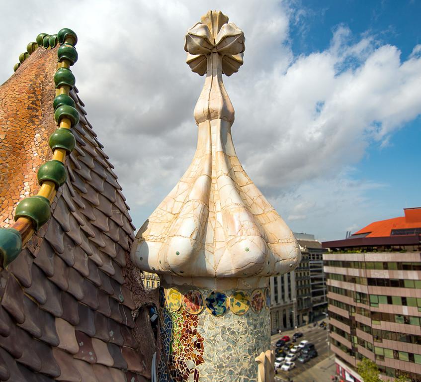 Gaudi's Batllo Rooftop Design