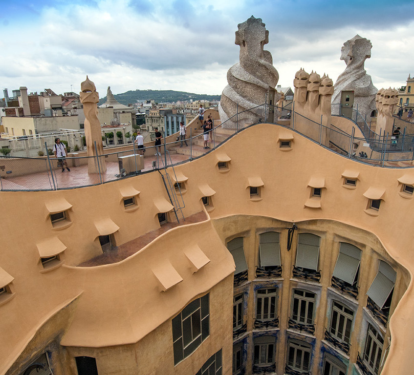Casa Mila Roof Design by Gaudi
