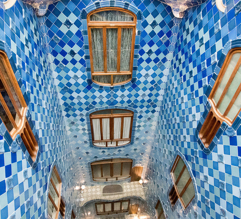 Gaudi's use of Color and Light