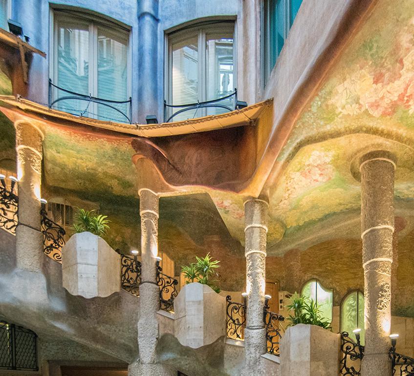 Casa Mila Stairs by Gaudi