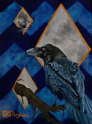 Slingland- Raven on Blue