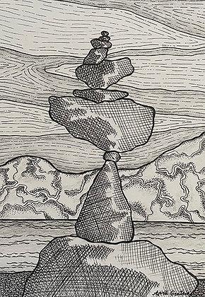 Gratrix- Balanced Rock Sculpture I