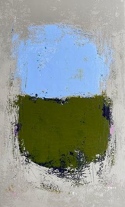 Handau- Pale Blue and Olive Blocks