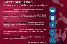 SAFETY PROTOCOLS - COVID-19 (Qatar Bowli