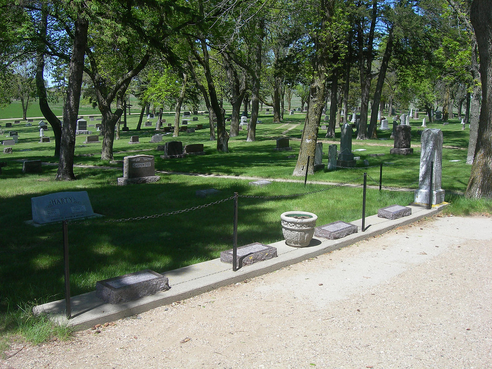 Ingalls family graves in cemetery in DeSmet