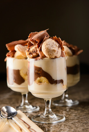Chocolate Banana Pudding Cups