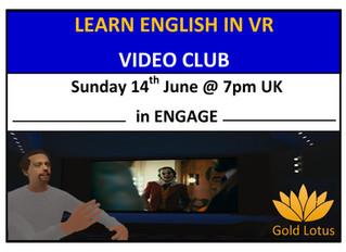 Learn English in VR Video Club