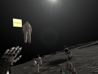 Learn English in VR on the Moon