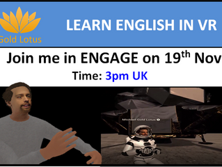 English Lessons in VR on ENGAGE