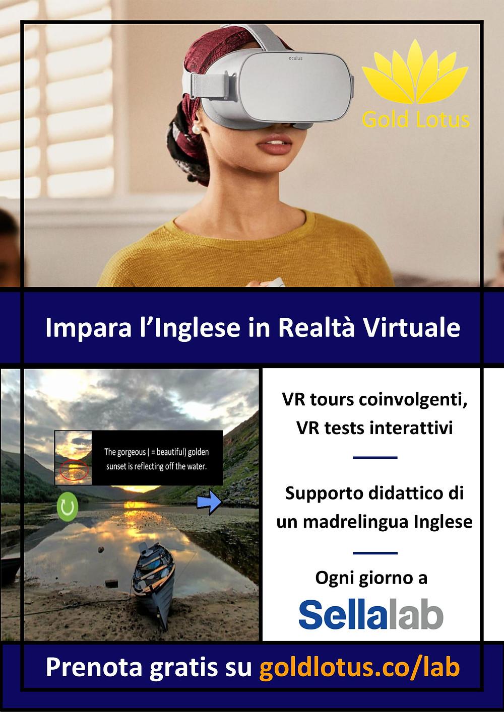 Impara l'inglese in realtà virtuale