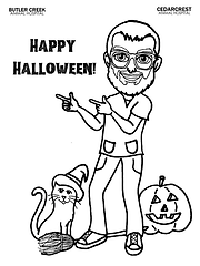 Happy Halloween! Dr. Shell Coloring Page