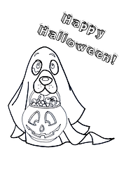 Halloween Coloring Page Ghost Dog.png