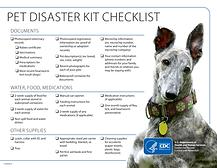 CDC Pet Disaster Kit Checklist Dog Canine