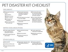 CDC Pet Disaster Kit Checklist Feline Cat
