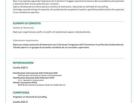Riconoscimento Regionale del Profilo Professionale dei Counsellor