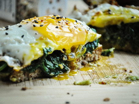 TODAY'S RECIPE: EGG SPINACH TOAST