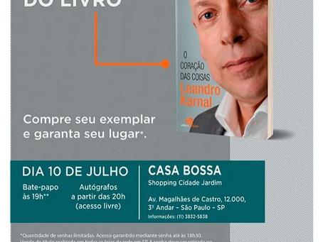 Leandro Karnal promove lançamento do novo livro na Casa Bossa