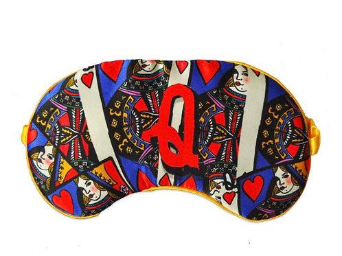 Alphabet Silk Eye Mask - Q -