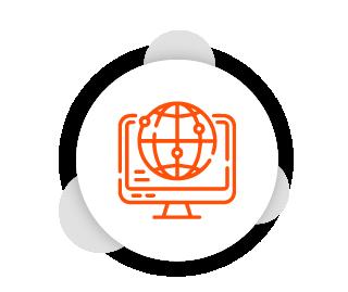 Computador com acesso à internet representando o acesso ao sistema Clinicorp pelo navegador