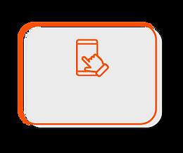 Usuário realizando a anamnese digital através do smartphone