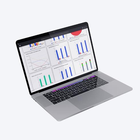 Dashboard analítico do software Clinicorp
