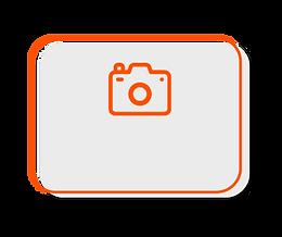 Câmera fotográfica que registra imagens de pacientes