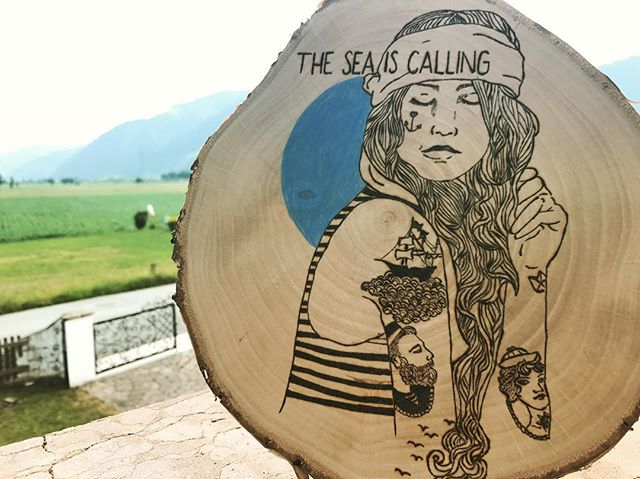 #pyrography #austria #woodwork #woodburning #sea #girlswithtattoos