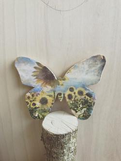 Schmetterling mit holzdruck 😃