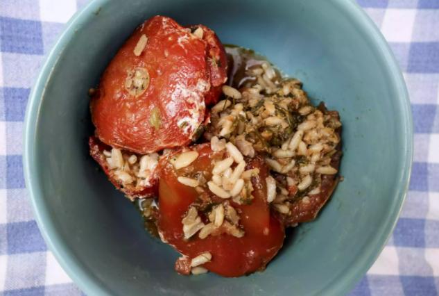 Yemista Me Ryzi (Rice Stuffed Vegetables)