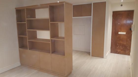 Clever room divider for Putney studio flat