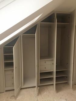 Under eaves wardrobes