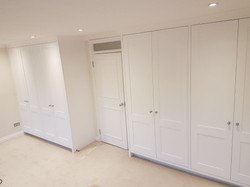 On-site manufacture, spray and install of wardrobes