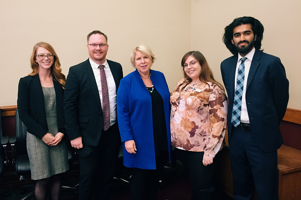 From left: CSA Communications Manager Emmaline Scharbach, CSA President Joel Willett, Hon. Minister Matthews, CSA Director Aimee Calma, CSA Director of Advocacy Abdullah Mushtaq