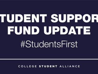 Student Support Fund Update
