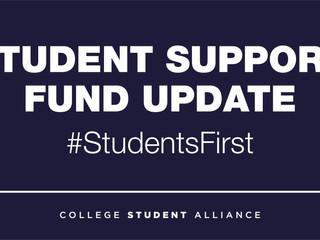 Student Support Fund Update
