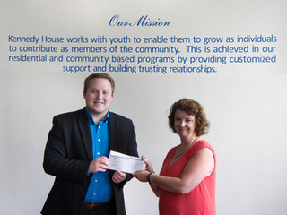 Student leaders donate $500 to the Kennedy House Youth Shelter