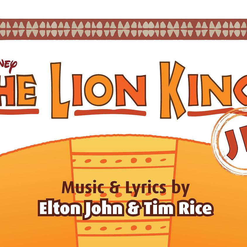 Lion King Jr. Summer Camp - Aug 6 - 17